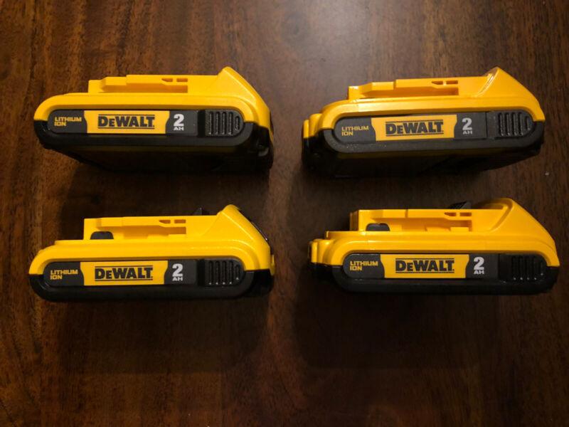 Four (4) New Genuine Dewalt 20v 2.0 Batteries DCB203 Combo Lot Gift