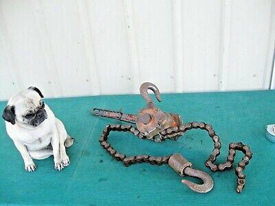 Yale Hand Lever Chain Hoist 1-12 Ton Pul-lift Ratchet Lever Come Along