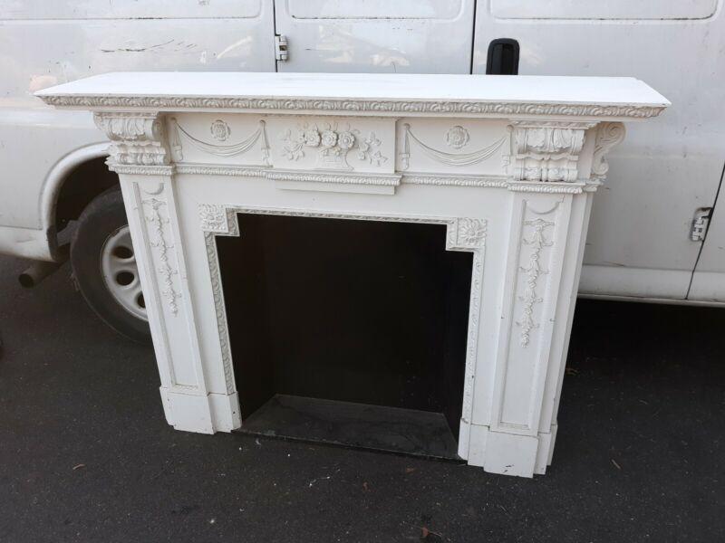 Fine Antique Victorian Style Wood Mantel Piece Architectural Salvage