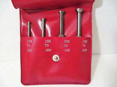 Vintage Starrett No. S 831 E Small Hole Gages Gauge 0.125 To 0.50 W Case