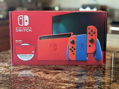 Nintendo Switch Mario Red & Blue Edition Includes Mario Case- NEW! SHIPS NOW🚚💨