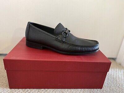 Salvatore Ferragamo Leather Loafer Shoes Black Size 9 Brand new