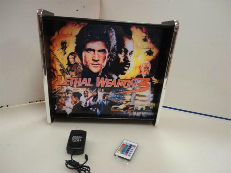 Lethal Weapon Pinball Head LED Display light box