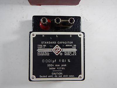 General Radio Co Standard Capacitor 1409-f 0.001 F