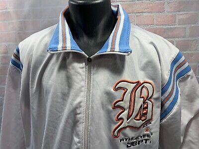 Brooklyn Express Weiß Baby Blau Orange Aufwärmen Jacke Herren Größe 3XL ()