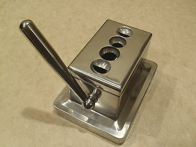 QUAD TABLE TOP CIGAR CUTTER Stainless body~Rare and Brand New In Box!