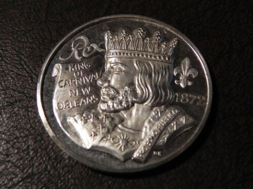 1972 Rex TRIBUTE TO JULES VERNE Fine Silver Mardi Gras Doubloon