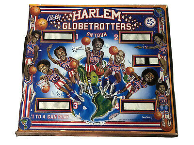 Harlem Globetrotters Pinball Backglass Original Bally 1979