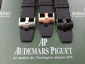 Black Rubber Strap + Buckle for Audemars Piguet Royal Oak Offshore Diver 15703st