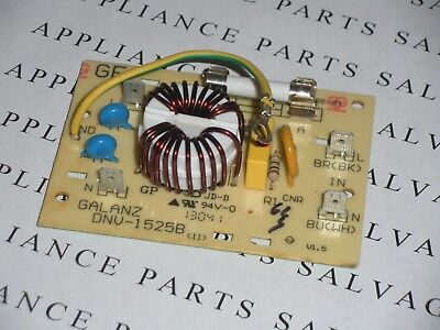 GALANZ DNV-1525B MICROWAVE OVEN NOISE FILTER AND 20A FUSE CLEAN  USED  TESTED