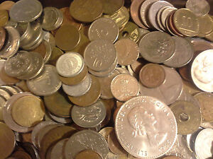 0-25-Lb-Quarter-Pound-Bulk-Unsearched-WORLD-COINS-FOREIGN-COIN-LOT