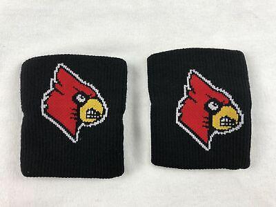 NEW NCAA Louisville Cardinals - Men's Black Wristbands -
