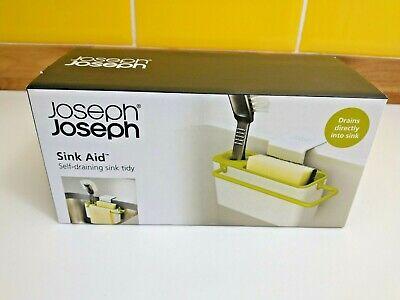 Joseph Joseph Sink Aid In Sink Self Draining Sink Tidy Caddy - White / Green NEW