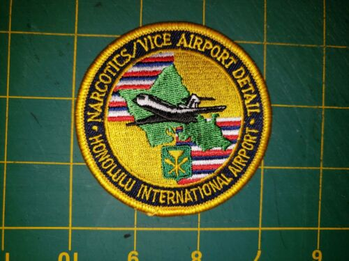 HAWAII SHERIFF POLICE PATCH HONOLULU NARCOTICS VICE AIRPORT DETAIL HI SPECIAL OP