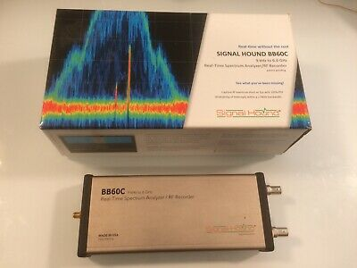 Signal Hound Bb60c 9khz -6ghz Spectrum Analyzer W Opt-1 Wlan Software On Sale