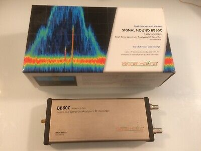 Signal Hound Bb60c 9khz -6ghz Spectrum Analyzer Opt-1 Wlan Software Antenna
