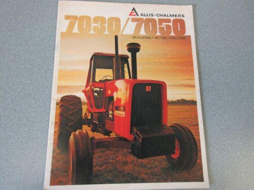 Allis Chalmers 7030, 7050 Farm Tractor Brochure