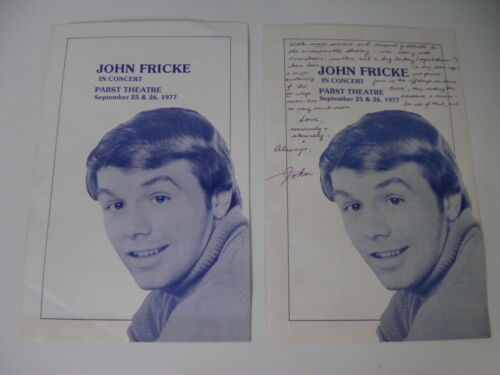 John Fricke Concert Program, Souvenir Booklet 1977