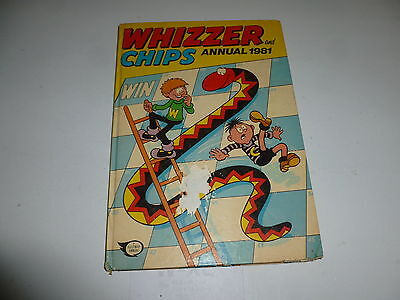 WHIZZER & CHIPS Annual - Year 1981 - UK Fleetway Annual (With Price Ticket)