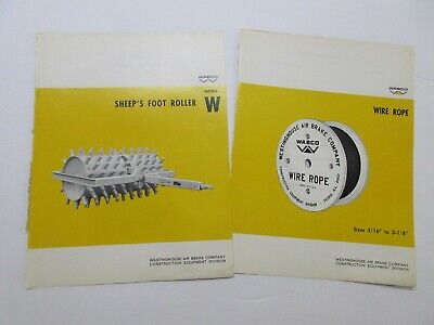 Rare Wabco Sheeps Foot Roller Wire Rope Sales Sheets 19651967
