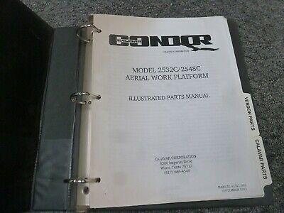 Calavar Condor 2532c 2548c Aerial Work Platform Parts Catalog Manual