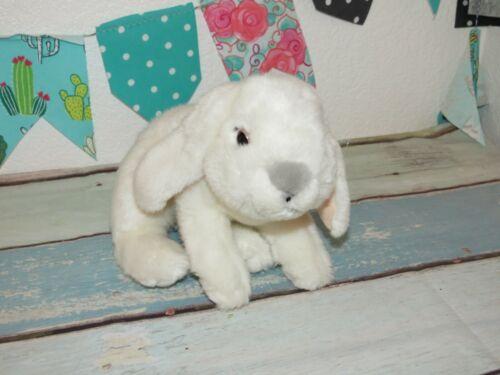 "Toys R Us Animal Alley White Bunny Rabbit Gray Nose Baby Stuffed Plush Toy 12"""