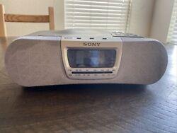 SONY DREAM MACHINE ICF-CD830 CD AM/FM Alarm Clock Radio Music Disc Player TESTED