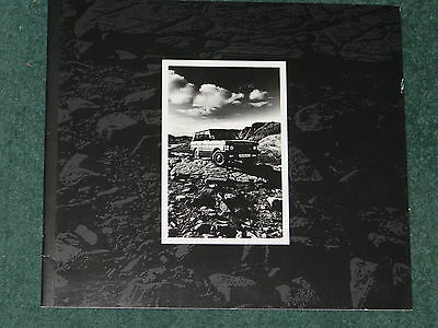 Range Rover large format high quality range Brochure - 1989