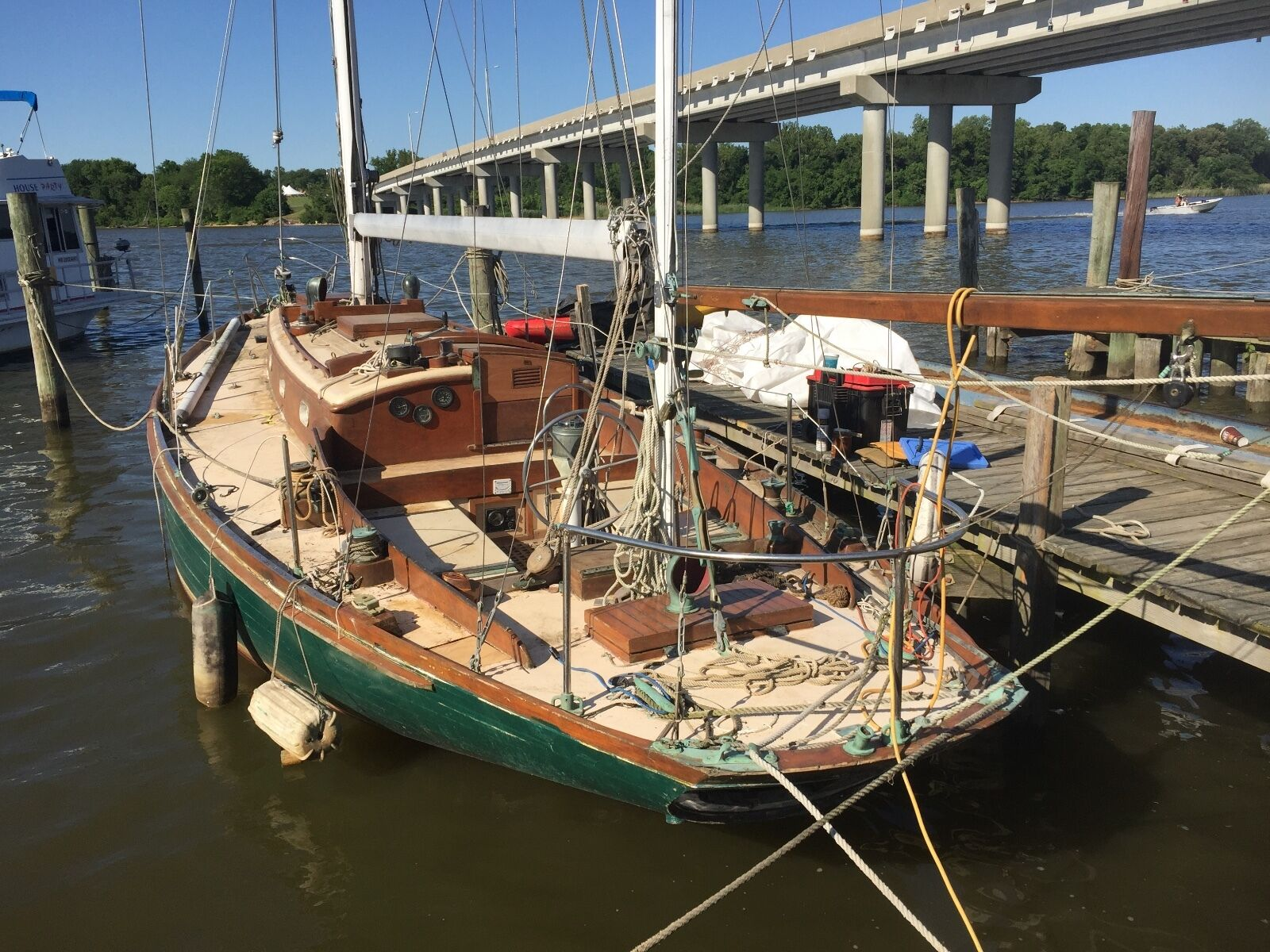 1961 Little Harbor Auxiliary Yawl Sailboat, Earleville MD   No Fees & No Reserve