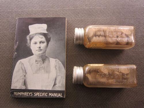 2 Homeopathic Remedies Medicine Bottles Humphrey