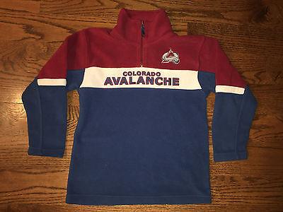 Colorado Avalanche Hockey NHL Long Sleeve Fleece Pullover Youth Medium 8-10  Colorado Youth Fleece Pullover