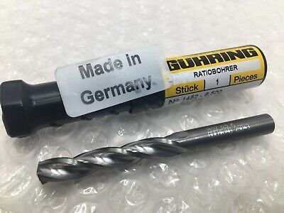 6.5mm .2559 Guhring 1452 Solid Carbide Drill Bit 3 Flute 5xd Gs 200 U 150