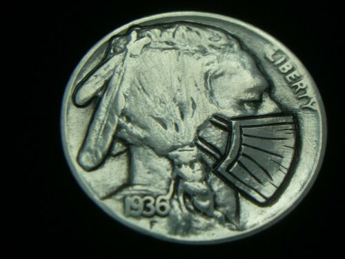 1936- P hobo nickel  CORONA THE PANDEMIC