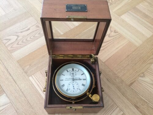 VERY RARE VINTAGE LANGE & SÖHNE GLASHÜTTE GERMANY MARINE CHRONOMETER