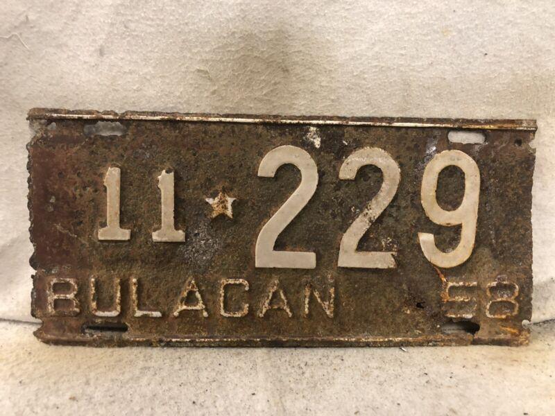 Vintage 1958 Philippines License Plate