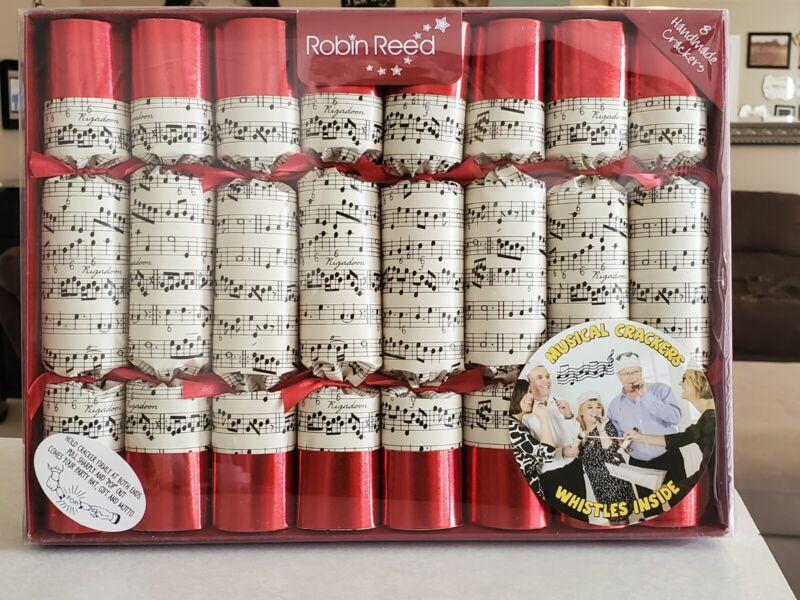 "8 X 10"" Handmade Musical Crackers Robin Reed w Snaps Hats Jokes Badges Whistles"