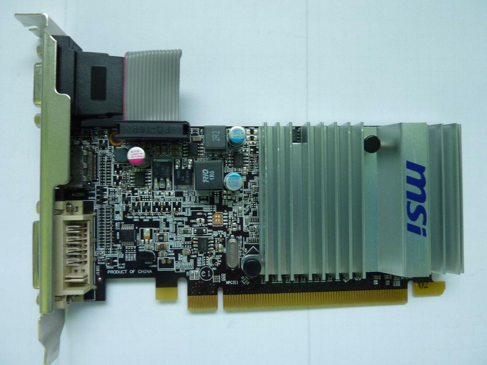 MSI ATI Radeon HD5450 Grafikkarte 512MB HDMI/DVI/D-SUB PCI-E x16 passiv gekühlt!