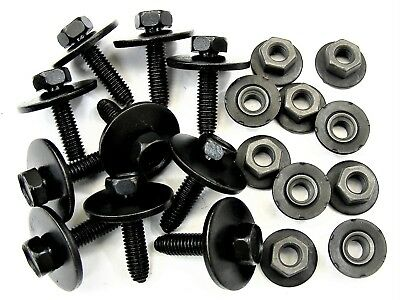 BMW Body Bolts & Barbed Nuts- M6-1.0 x 25mm Long- 10mm Hex- 20 pcs- #390