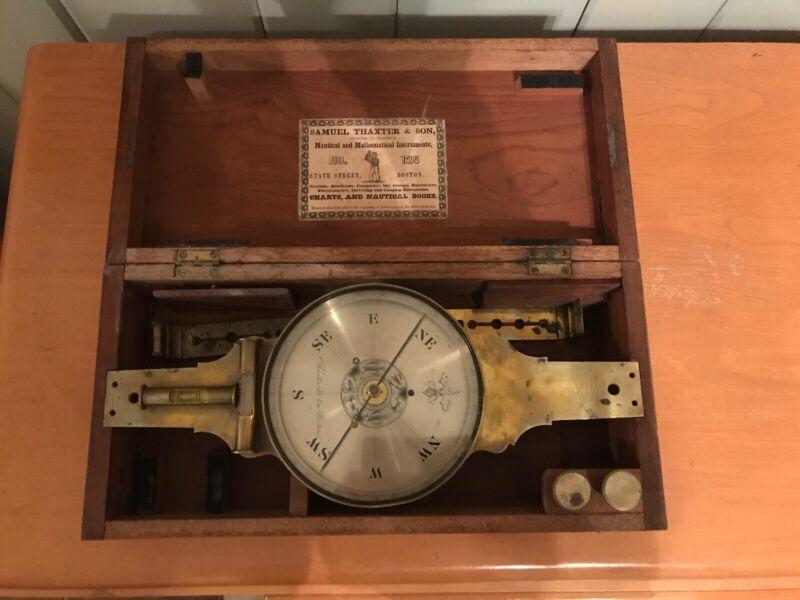 Samuel Thaxter & Sons Survey Compass - Nautical Mathematical Instruments No. 125