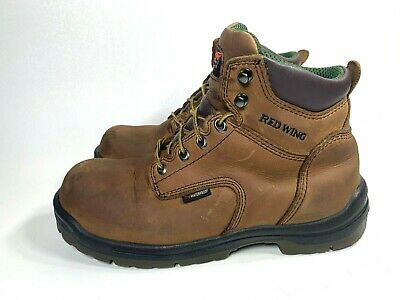 Red Wing Boots 2260 Mens Size 9.5 E2 Thinsulate Waterproof Safety Toe Brown