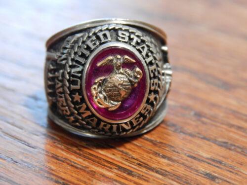 Two Tone United States Marines Ring Sz 7.5