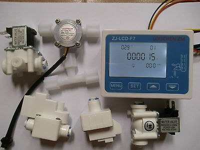 RO Pure Water Filter Controller Display+Solenoid Valve+Switch+Flow Sensor+TDS