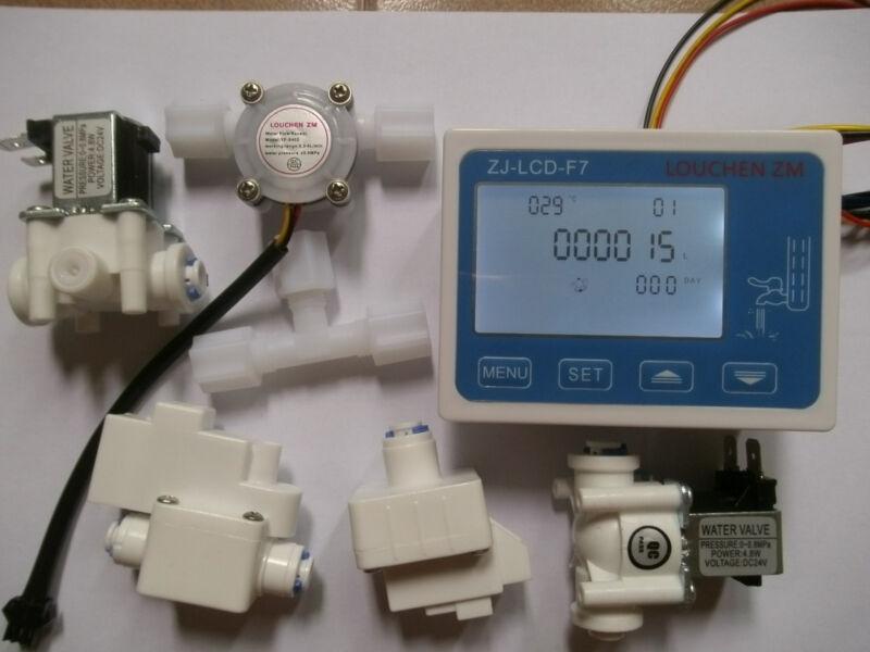 RO Pure Water Filter Controller Display+Solenoid Valve+Switch+TDS+Flow Sensor