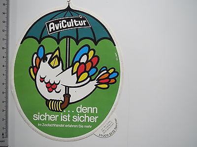 Aufkleber Sticker Zoofachhandel AviCultur (M1967)