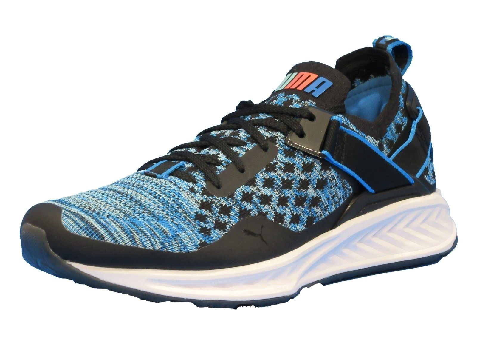 PUMA Men's Ignite Evoknit Lo Sneaker (brilliant blue-puma black)