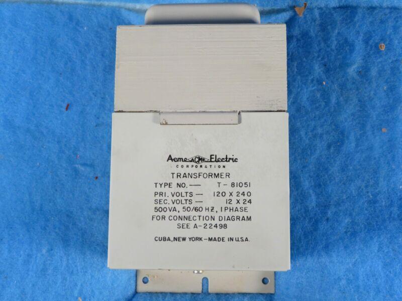 NIB ACHME T81051 5 KVA 120-240V 1 Phase Transformer + 1 Year Warranty