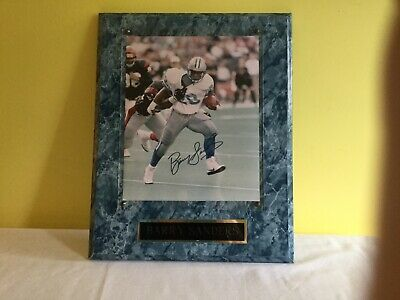 Barry Sanders Wooden Wall Plaque  12 X 15 Inches (Barry Sanders Wall)