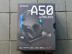 Astro A50 wireless gaming headphone set New sealed box