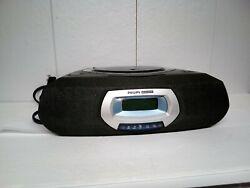 Philips Magnavox Stereo CD Player Clock Radio Model AJ 3935/17 Tested used nice