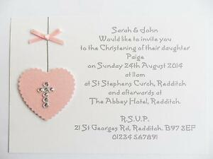 christening invitations cards invites ebay